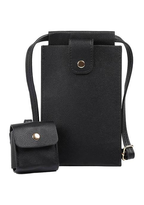 Mali + Lili Vegan Leather Tech Crossbody