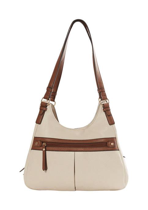 Kim Rogers® Triple Entry Four Poster Shoulder Bag