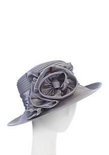 Taffeta and Satin Lampshade Hat