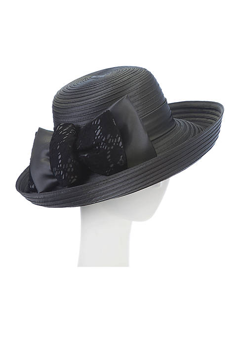 F&M Hats Shimmer Taffeta with Lace Julia Hat
