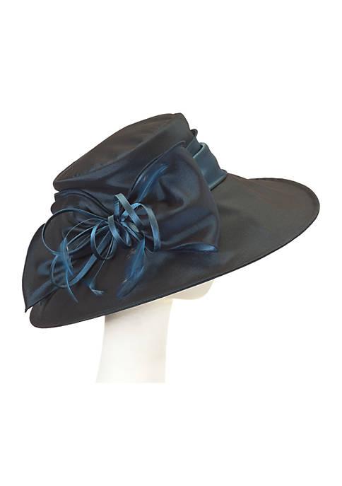 F&M Hats Taffeta Frilla with Loops & Feathers
