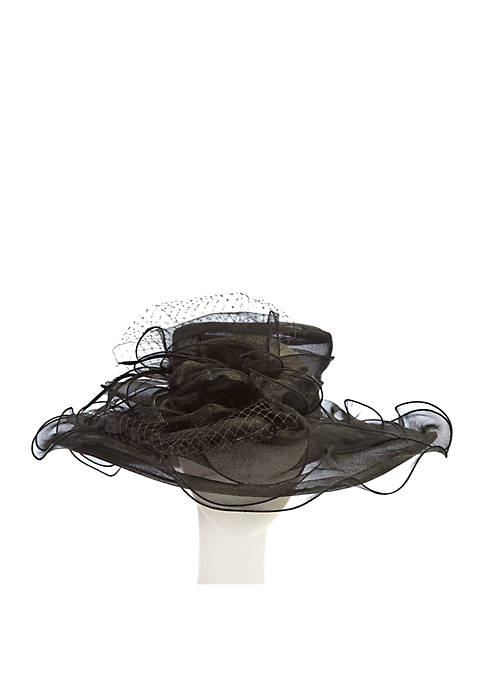 Organza And Netting Hat