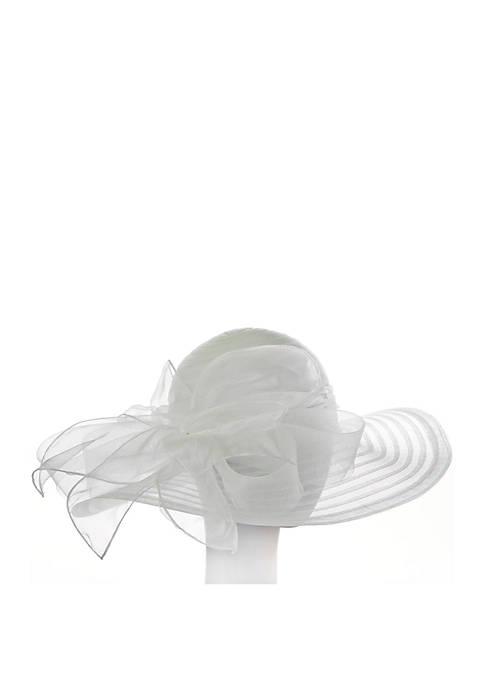 F&M Hats Large Sheer Hat and Ribbon