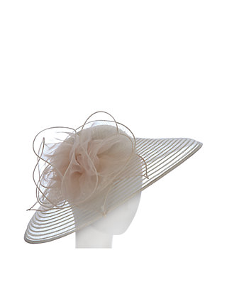 e50a8778 F&M Hats. F&M Hats Sheer Organza Hat With Large Flower