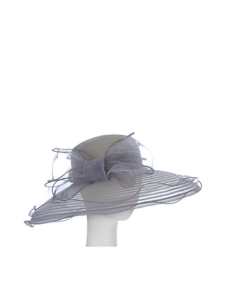 b7304a3e F&M Hats Sheer Large Brim Hat With Organza Bow | belk