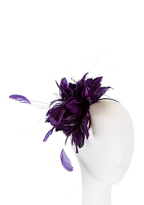 F&M Hats Big Feather Fascinator