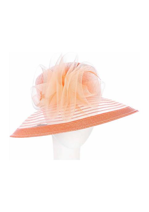 Giovannio Matte Crinoline Braid Lampshade Brim Hat