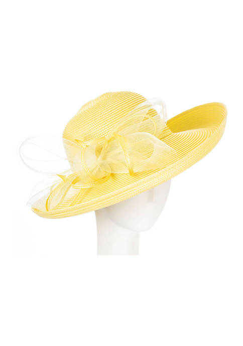 Giovannio Polyester Braid Dress Hat with Bow