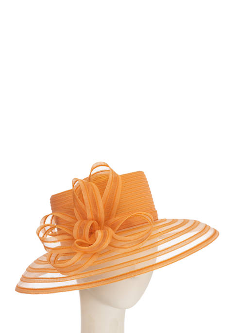 F&M Hats Chiffon Braid Hat with Telescopic Brim