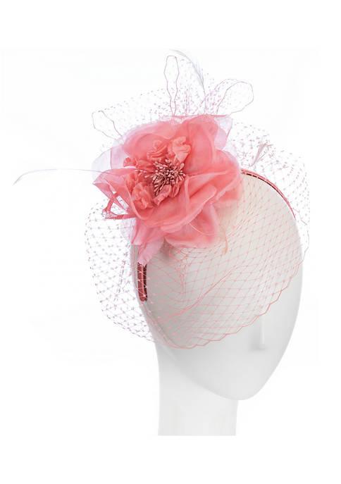 Giovannio Netted Veil Headband with Silk Flower