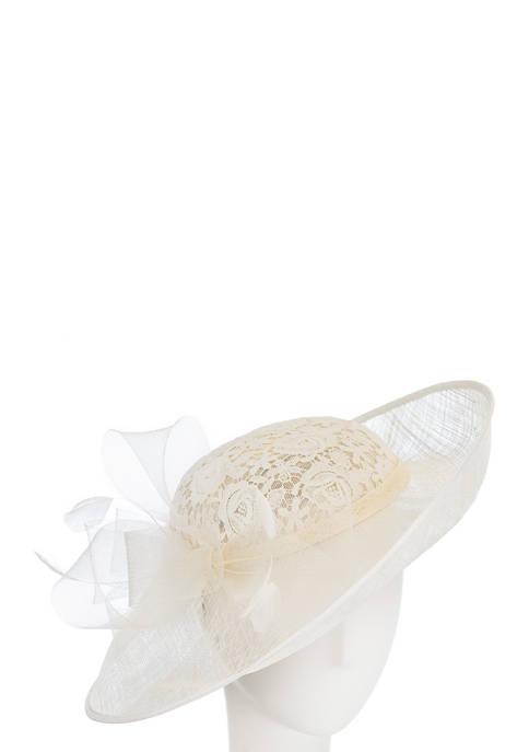 F&M Hats Lace Design Bow Hat