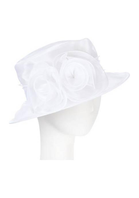 Packable Organza Medium Brim Dress Hat