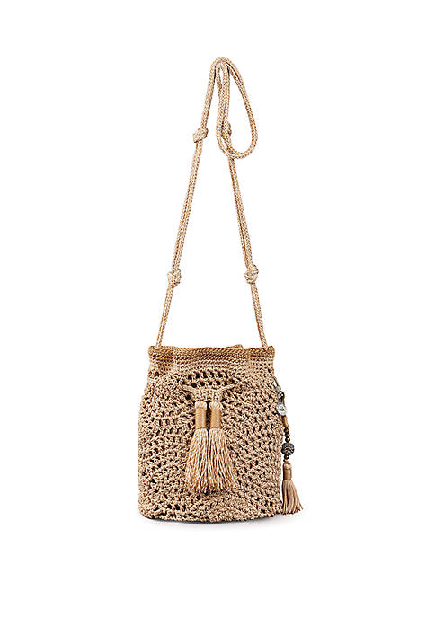 Sayulita Crochet Drawstring Crossbody
