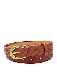 Fossil® Floral Perforated Belt