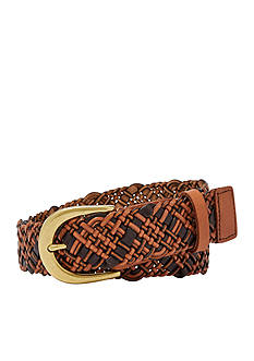 Fossil® Woven Two-Tone Belt