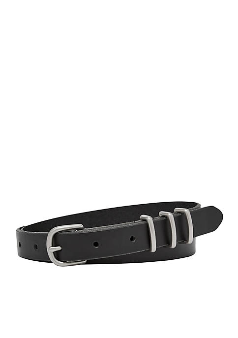 Fossil® Triple Keeper Skinny Belt