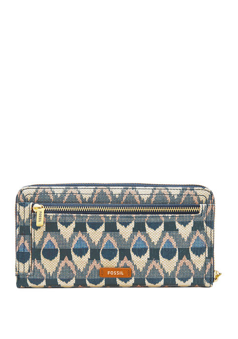 Fossil® Logan RFID Zip Around Clutch