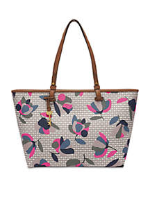 Speckled Zipper Tote