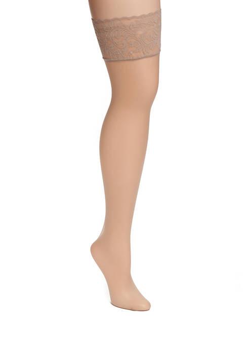 Donna Karan Signature Lace Top Thigh High Stockings