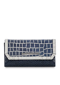 Brahmin Blue Skyline Belk Exclusive Collection Soft Checkbook Wallet