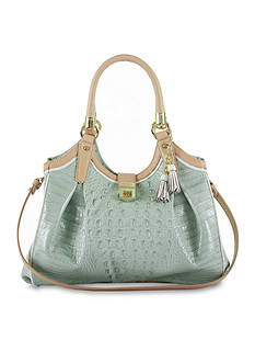 Brahmin Tri-Texture Collection Glossy Elisa Satchel
