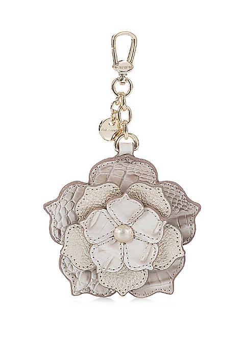 Brahmin Magnolia Parchment Key Fob