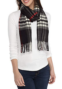 Exploded Plaid Scarf