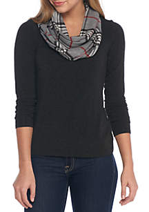 Cashmere Plaid Infinity Scarf