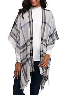 Lightweight Exploded Fraas Plaid Ruana