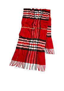 Plaid Stretch Blanket Wrap