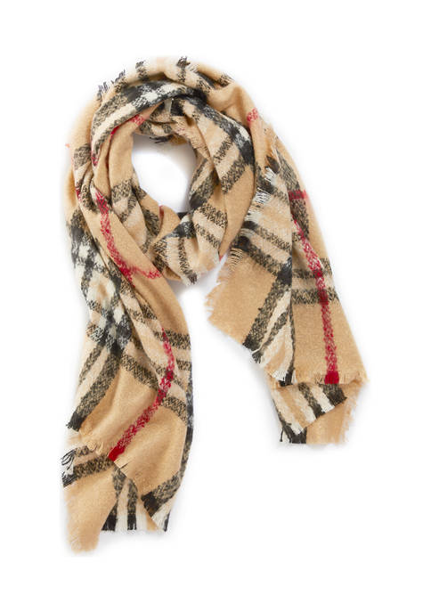 New Plaid Cashmink Muffler Scarf
