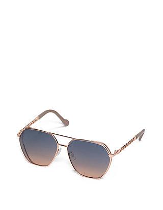 a71d4689a3 Jessica Simpson. Jessica Simpson Geo Metal Aviator Sunglasses