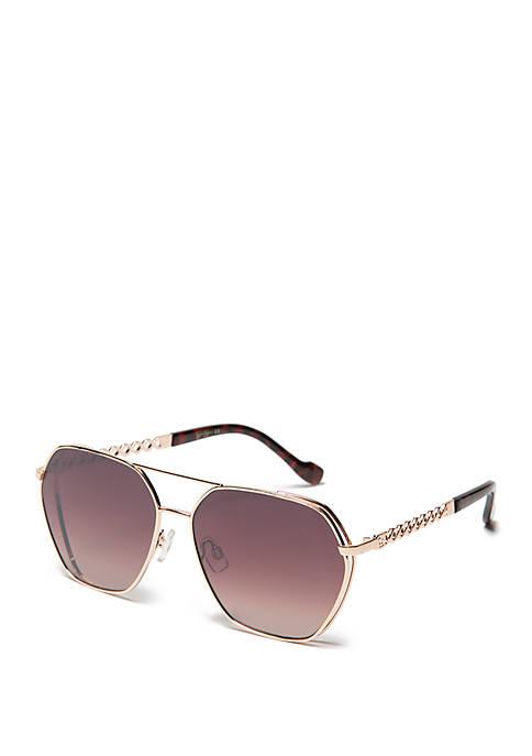 Geo Metal Aviator Sunglasses