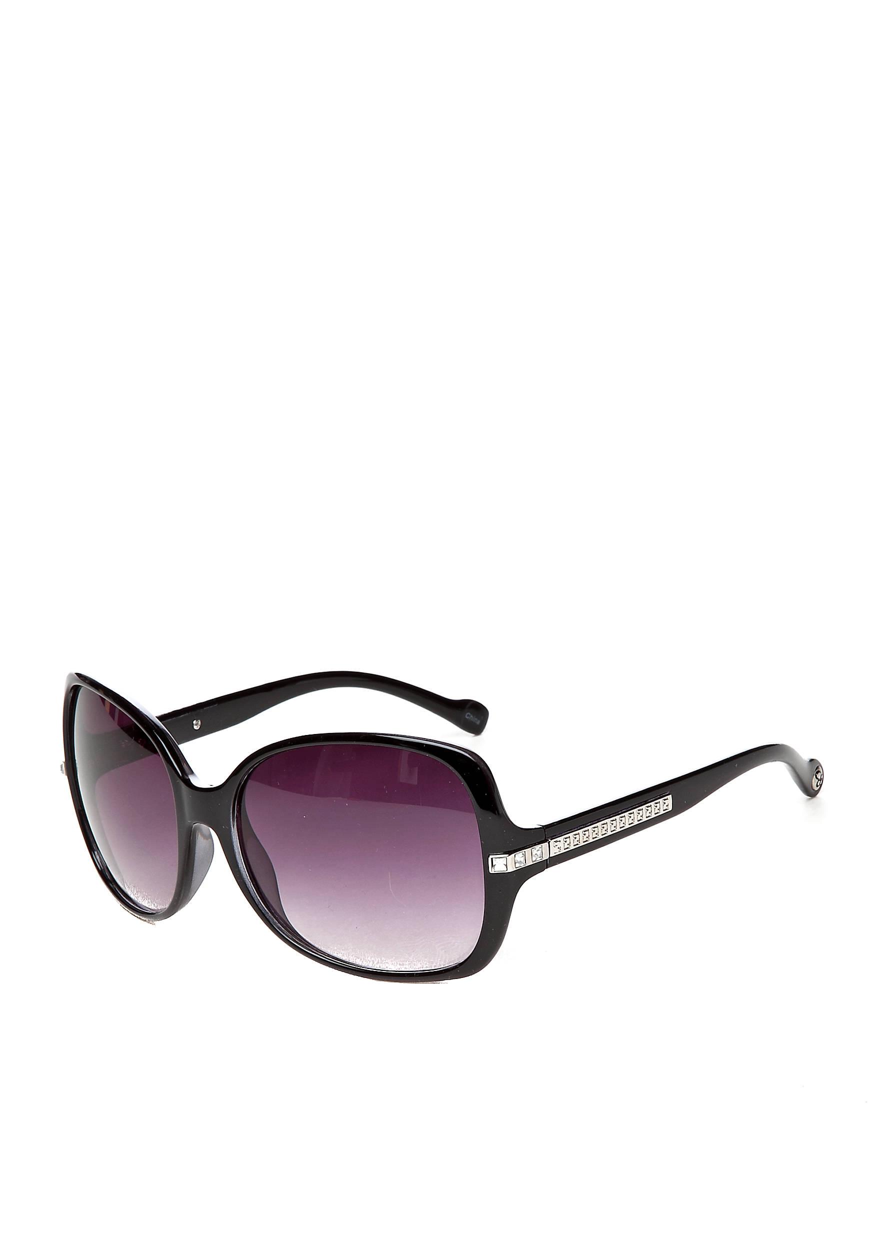 a633452e5f Jessica Simpson Glam Plastic with Rhinestone Detail Sunglasses