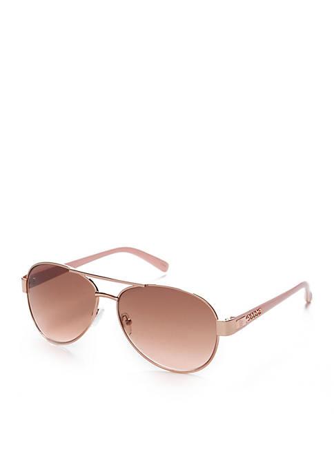 Jessica Simpson Classic Aviator Sunglasses