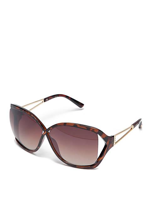 Jessica Simpson Oversize Tortoise Sunglasses