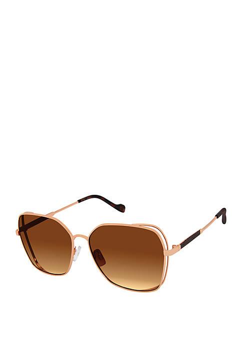 Jessica Simpson Square Metal Vent Sunglasses