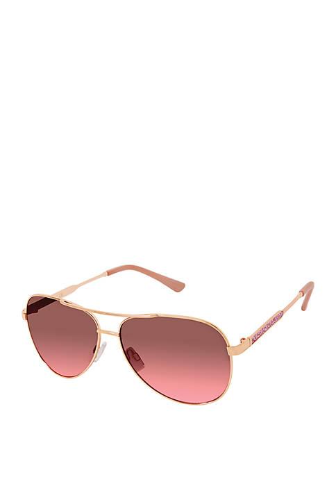 Sparkly Metal Aviator Sunglasses