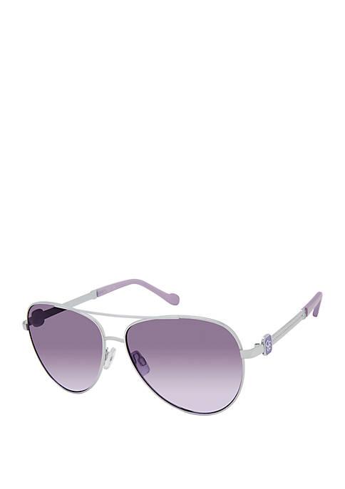 Jessica Simpson Embossed Aviator Sunglasses