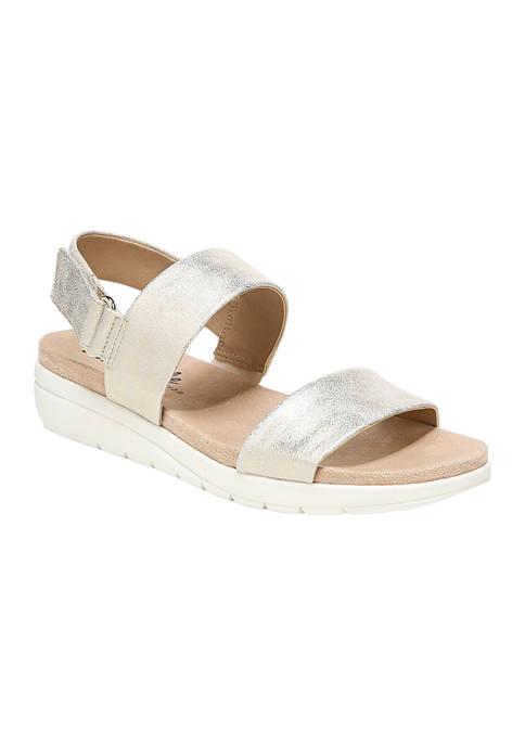 LifeStride Peaceful Soft Gold Slingback Sandals