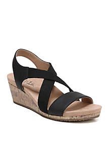 LifeStride Mexico Wedge Sandals