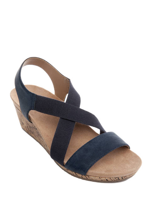LifeStride Mexico Wedge Sandals