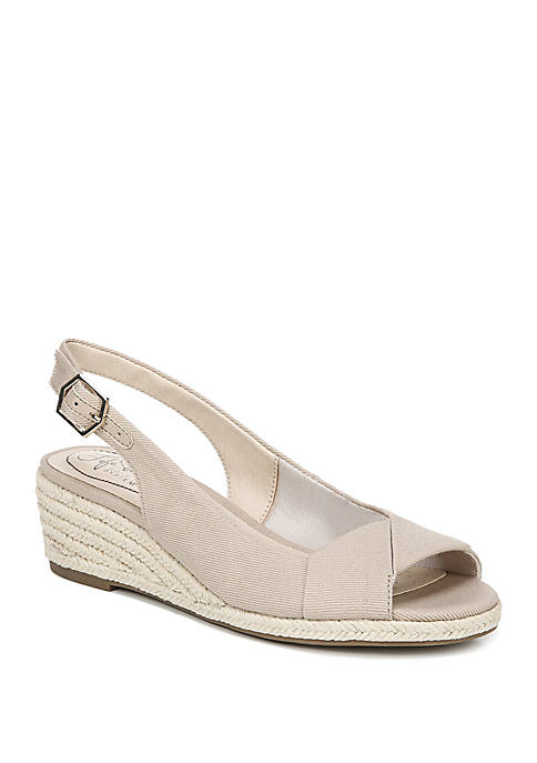 Socialite Peep Toe Wedge Sandals