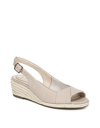 3ef9a39f049 Socialite Peep Toe Wedge Sandals