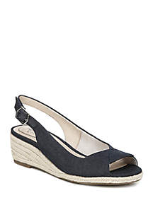 LifeStride Socialite Peep Toe Wedge Sandals