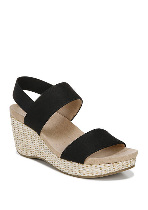 LifeStride Delta Quarter Ankle T-Strap Wedges