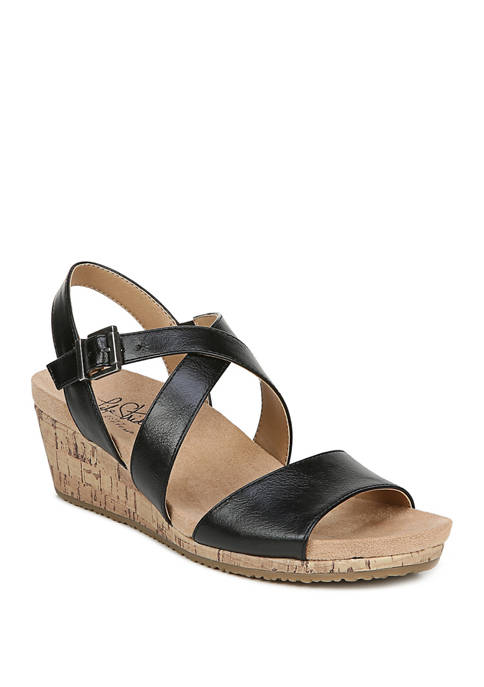 LifeStride Maple Slingback Wedge Sandals