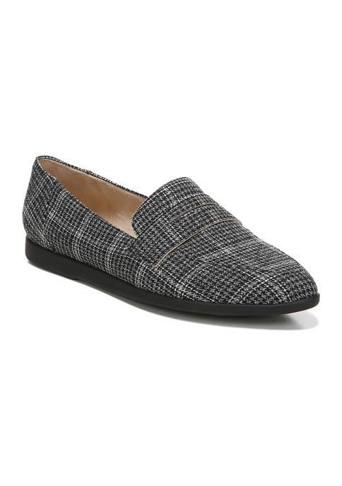 LifeStride Anna Slip-On Black Plaid Loafers