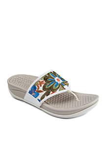 Dasie White Multi Sandal