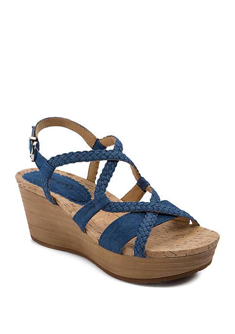 Mairi Woven Wedge Sandals